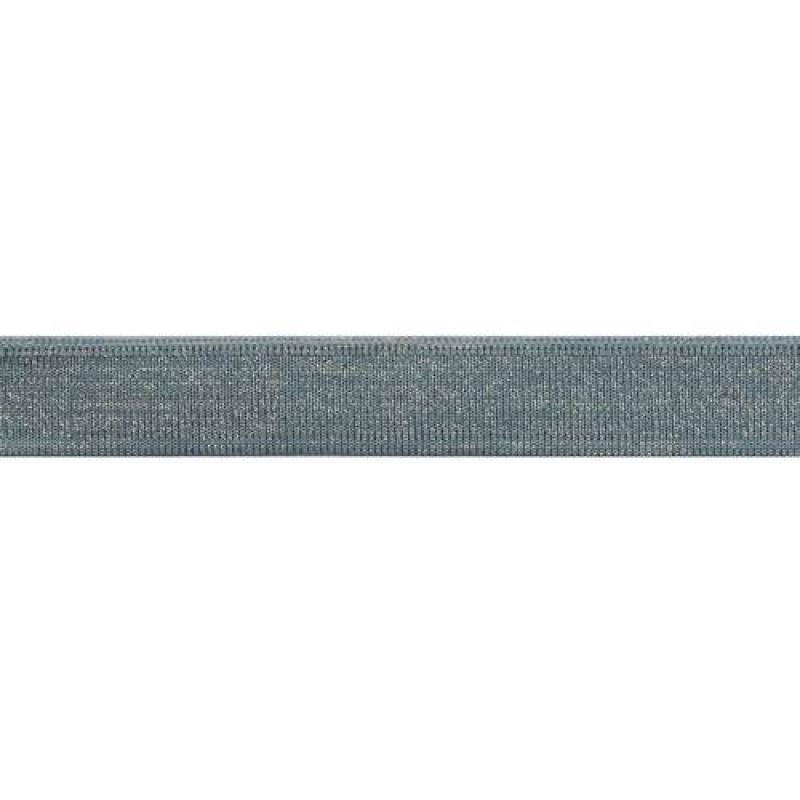 Подвяз 1*1 полиэстер 2*100см, цв: голубой/люрекс серебро