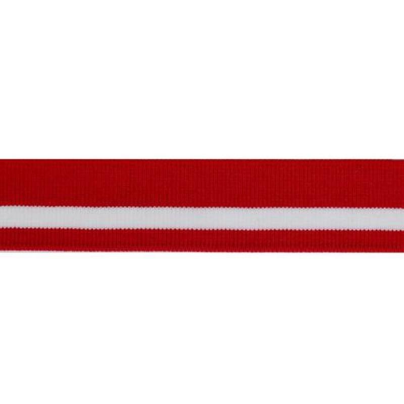 Подваяз акрил 3,5*100см, цв:красный/белый