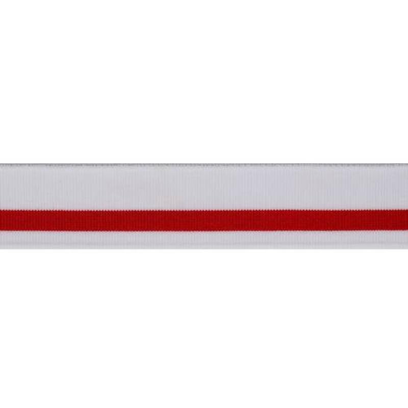 SALE Подвяз нейлон 16кл 3*100см, цвет: белый/красный