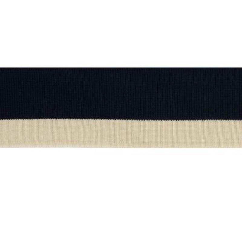 Подвяз акрил 5*100см, цв: темно-синий/бежевый