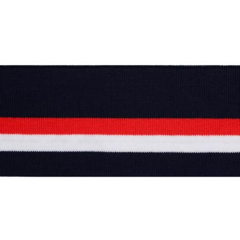 Подвяз акрил 6,5*120см, цв: темно-синий/красный/белый