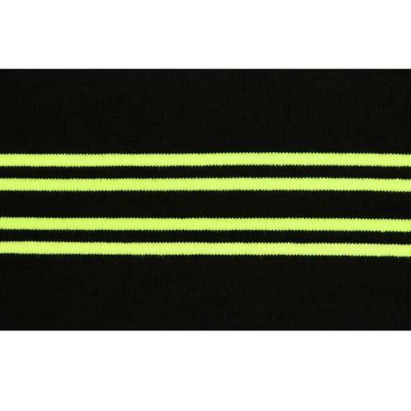Подвяз акрил 11*120см, цв: черный/салатовый неон