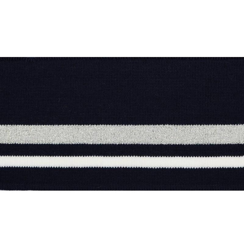 Подвяз 1*1 акрил/люрекс 6*120см, цв:т.синий/белый/серый