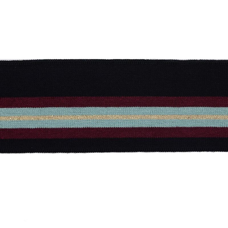 Подвяз вискоза 5,5*100см, цв:т.синий/бордовый/беж/бирюза