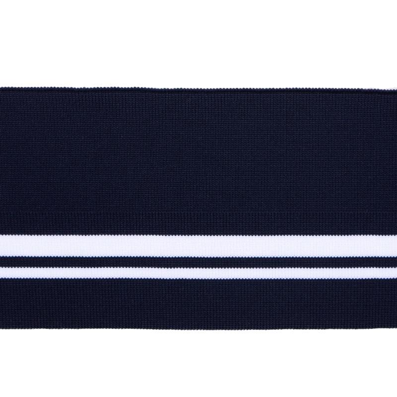 SALE Подвяз 1*1 полиэстер 10*120см, цв:черный/белые полоски