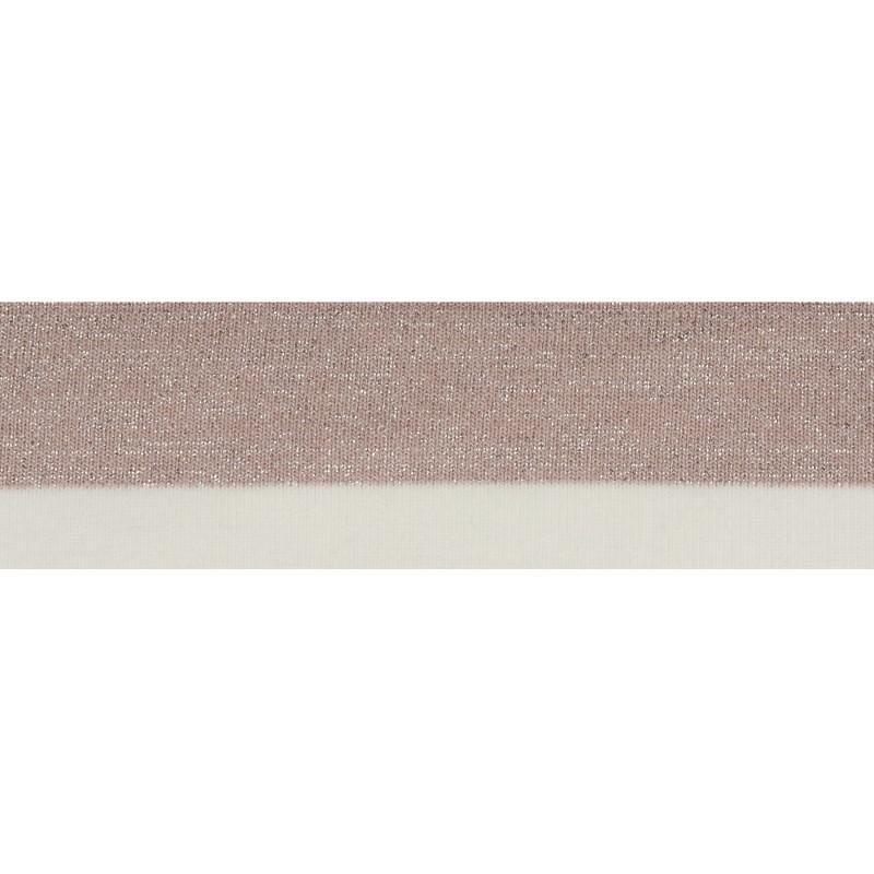 Подвяз 1*1 акрил 5*100см, цв:розовый/люрекс серебро/молочный