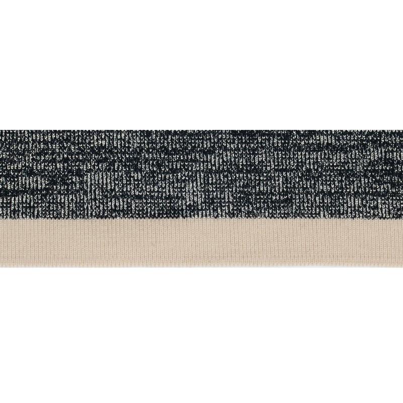SALE Подвяз акрил 4,7*120см, цвет: т.синий /люрекс серебро/бежевый (только на раскрой, пропущена петля на 38см у заработанного края)