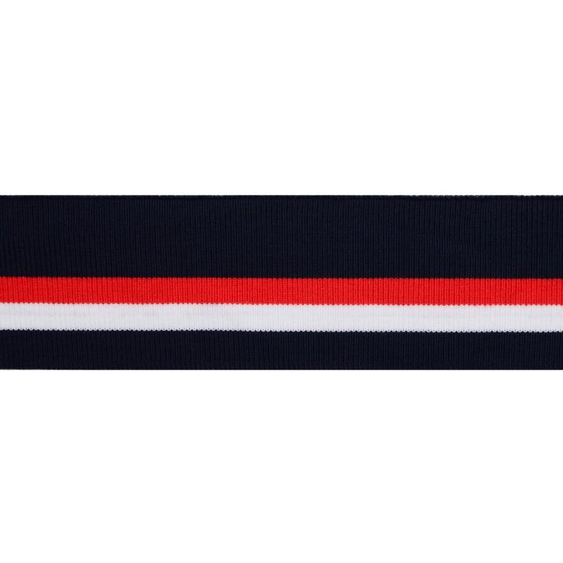 Подвяз 1*1 акрил 3,5*120см, цв:т.синий/белый/красный