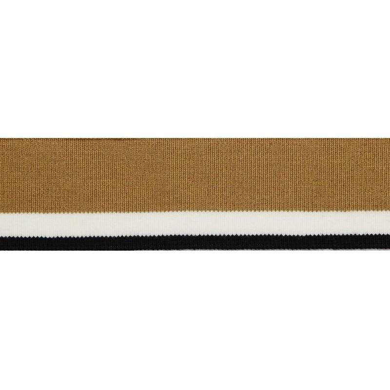 Подвяз акрил 4*120см, цв:кофейный/белый/черный