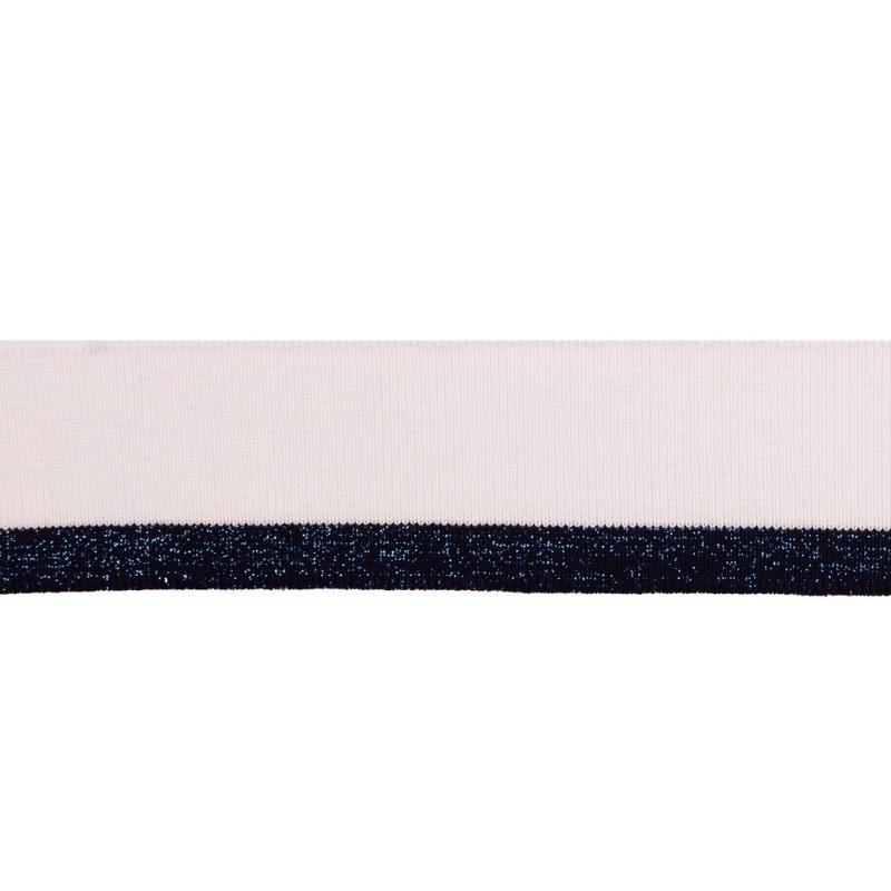 Подвяз вискоза 4*110см, цв:белый/синий с люрекс