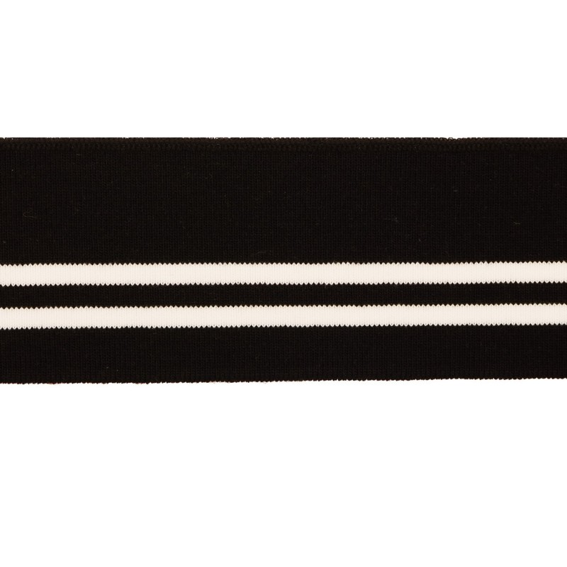 Подвяз акрил 1*1, 6*80см, цв:черный/белый