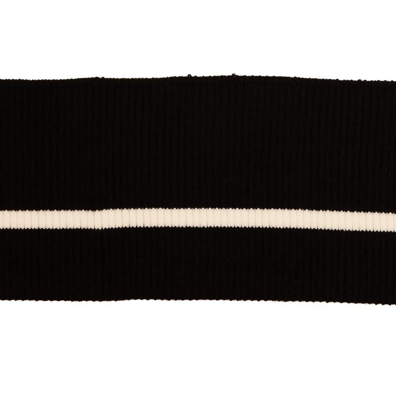 Подвяз 2*2 акрил, 9*80см с линией перегиба, цв:черный/белый