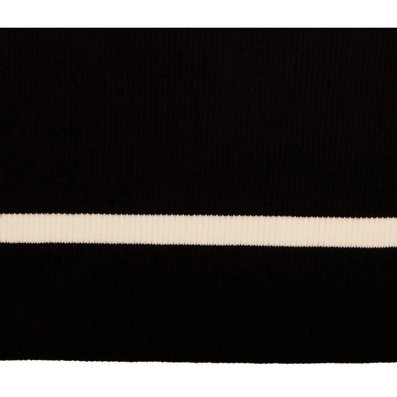 Подвяз 2*2 акрил, 16*80см с линией перегиба, цв:черный/белый