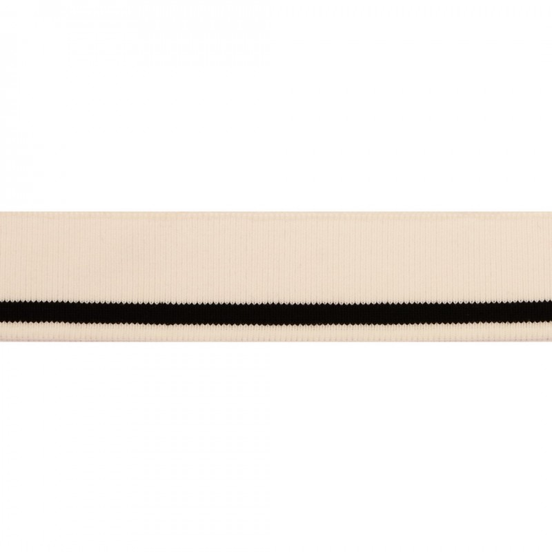 Подвяз 1*1 акрил 3,5*120см, цв:белый/черный