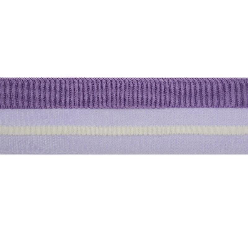 Подвяз 1*1 полиэстер 4,8*100см,цв:фиолетовый/нейлон в цвет/белый