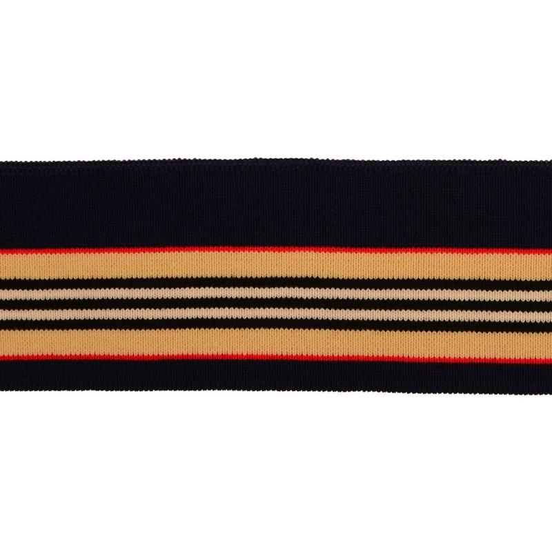 Подвяз 1*1 акрил 5,5*120см,цв:т.синий/бежевый/черный/св.бежевый/красный