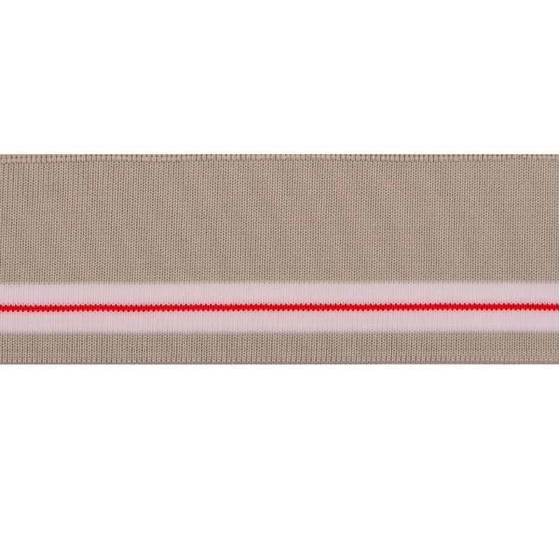 Подвяз 1*1 полиэстер 5*100см, цв:серый/белый/красный