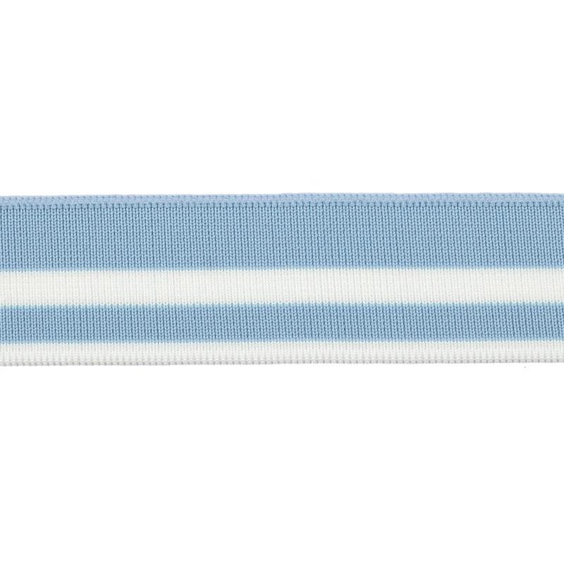 Подвяз акрил 3,5*120см, цв:небесно-голубой/белый