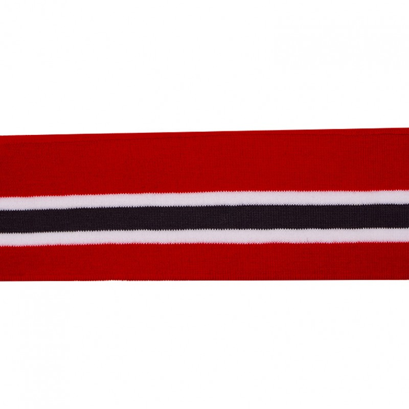 Подвяз 1*1 акрил 6*120см, цв:красный/белый/серый