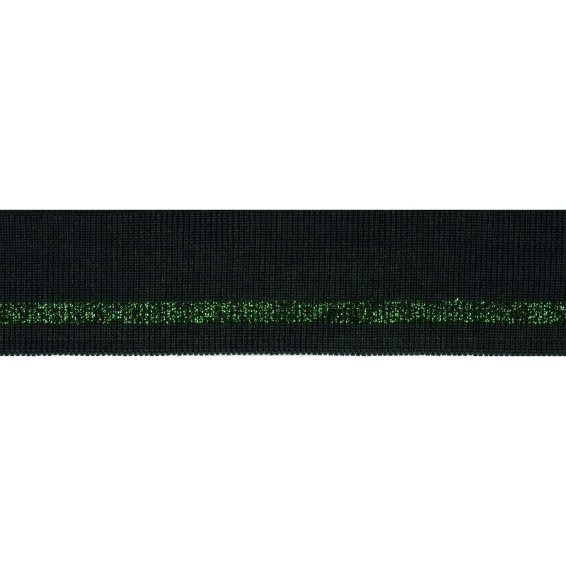 Подвяз полиэстер с люрекс 4*100см, цв: темно-зеленый
