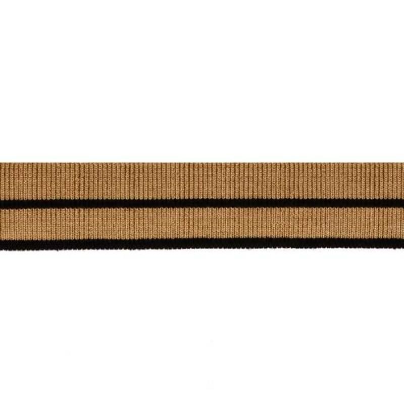 Подвяз вискоза 1*1, 2,5*100см, цв: бежевый/чёрный