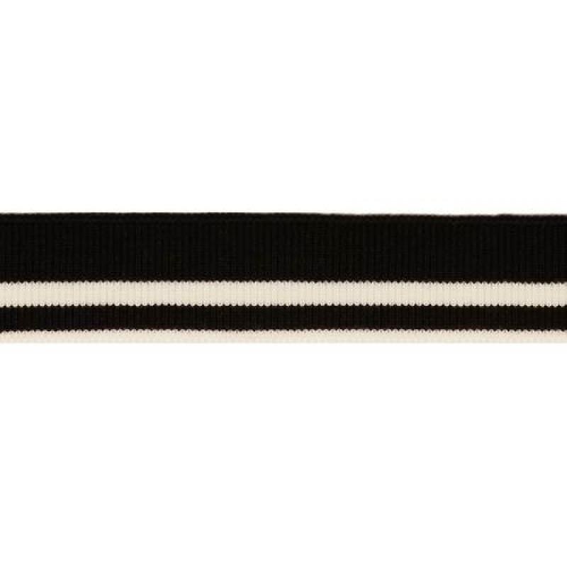 Подвяз вискоза 1*1, 2,5*100см, цв: чёрный/белый