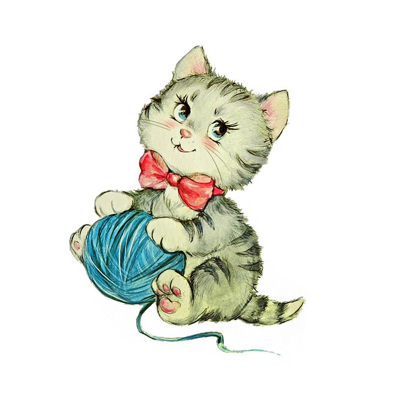 Термотрансфер CUTE CAT 17*12,5см