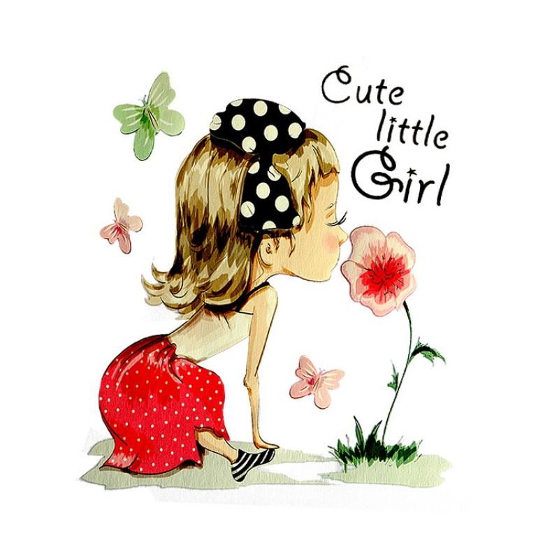 Термотрансфер CUTE GIRL 16*13см