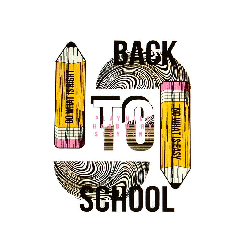 Термотрансфер BACK TO SCHOOL 9*7см