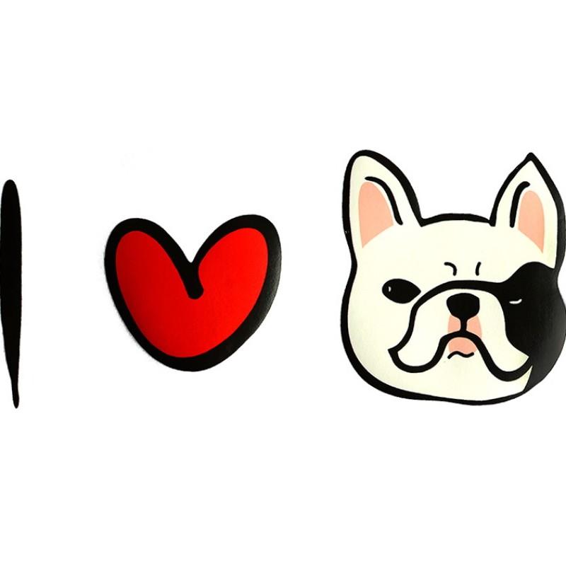 Термотрансфер I LOVE DOG 24*10,5см