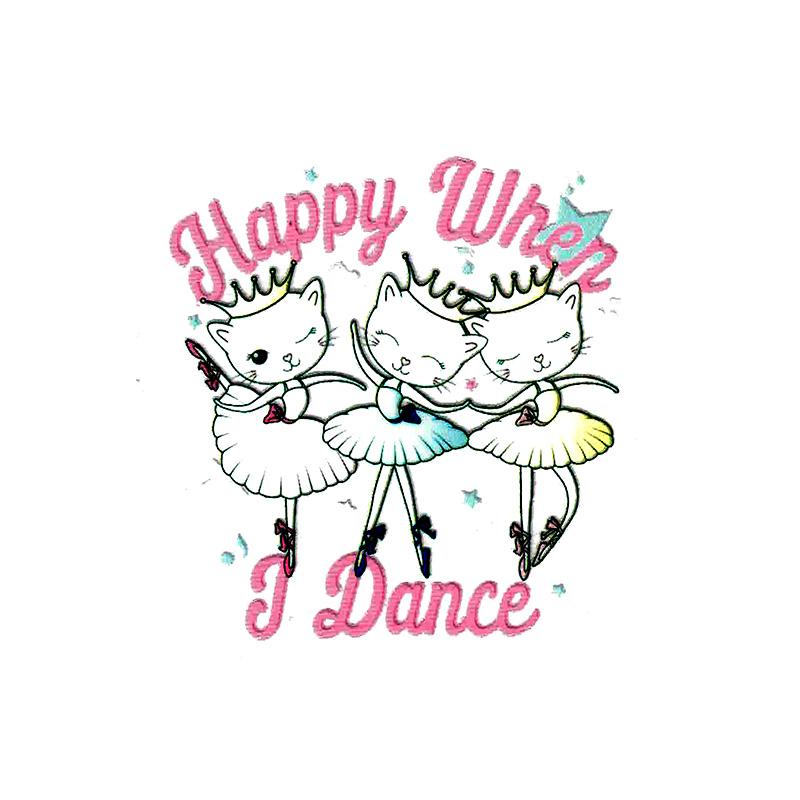 Термотрансфер HAPPY DANCE 8*8,5см