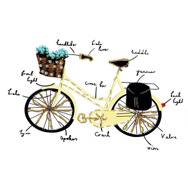 Термотрансфер YELLOW BICYCLE 23,5*13,5см