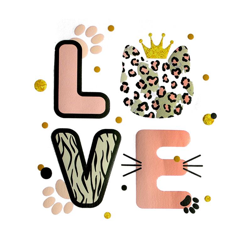 Термотрансфер LOVE 12*13,5см