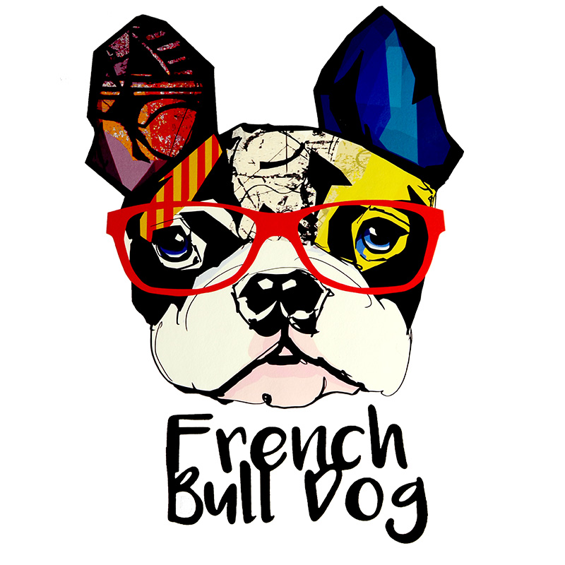 Термотрансфер FRENCH BULL DOG 19*26,5см