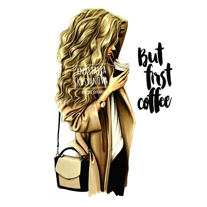 Термотрансфер FIRST COFFE 14,3*23,2см