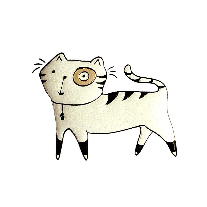 Термотрансфер WHITE CAT 7*5см