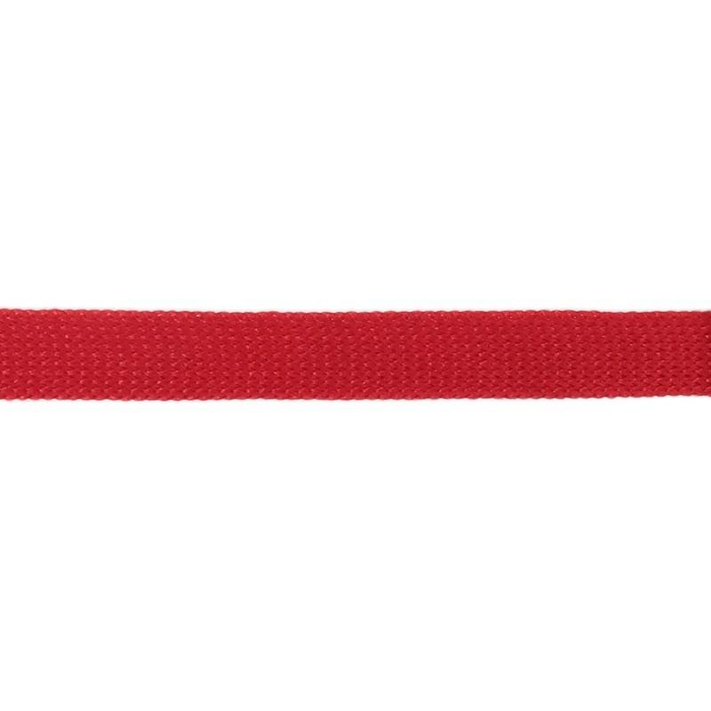 Тесьма полиэстер 1,0см трикотажная 68-70м/рулон, цв: красный