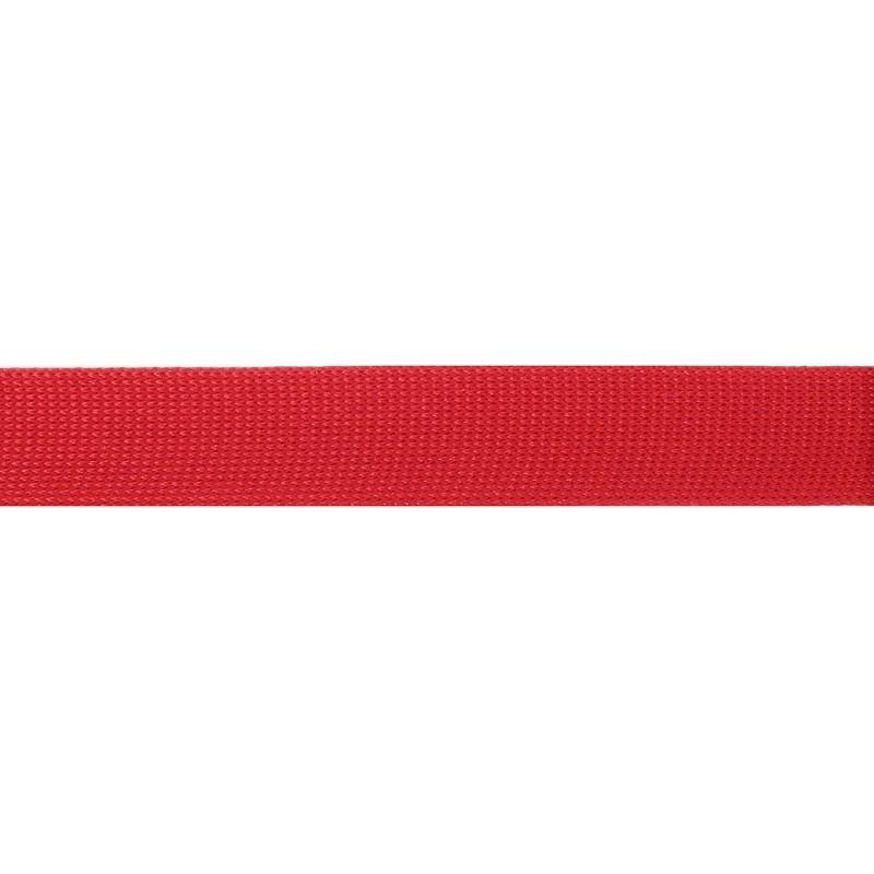 Тесьма полиэстер 1,5см трикотажная 68-70м/рулон, цв: красный
