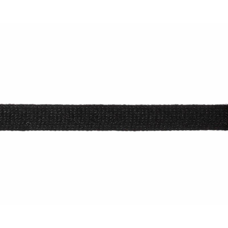 Тесьма полиэстер 1,0см трикотажная 68-70м/рулон, цв: черный