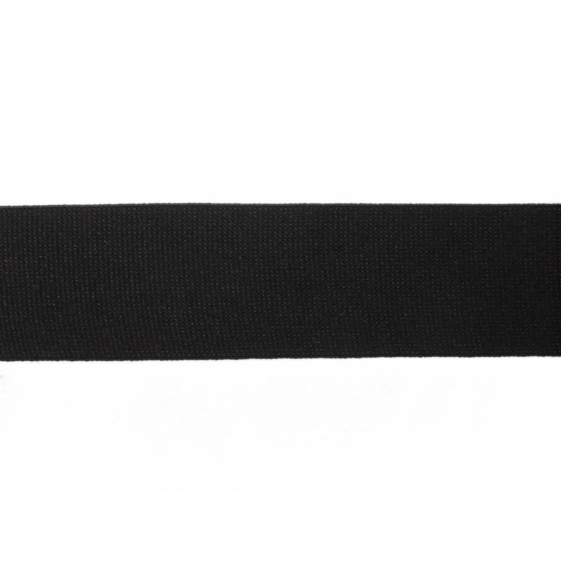 Тесьма полиэстер 3,5см трикотажная 68-70м/рулон, цв: черный