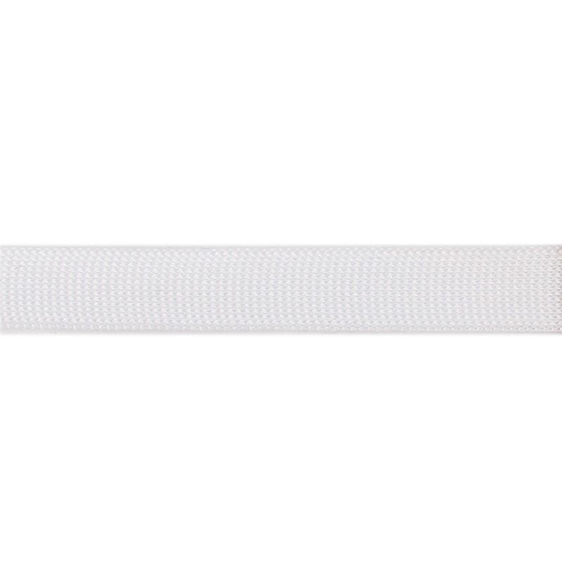 Тесьма полиэстер 1,5см трикотажная 68-70м/рулон, цв: белый