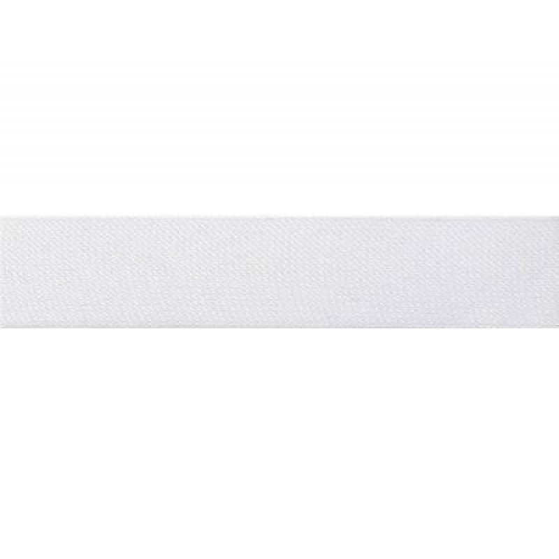 Тесьма полиэстер 2,0см трикотажная 68-70м/рулон, цв: белый