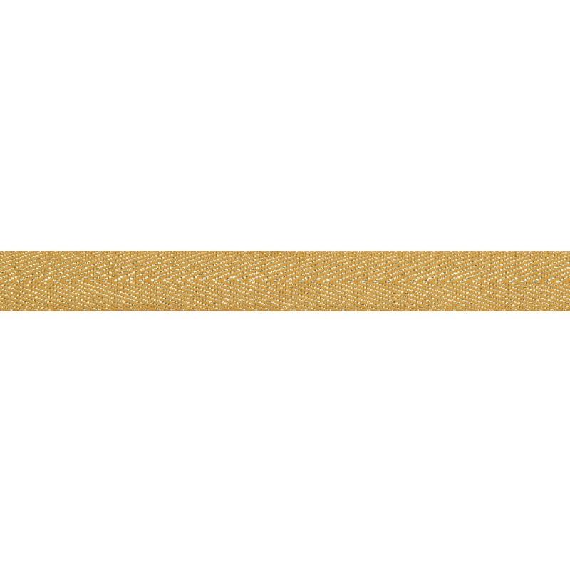 Тесьма 1,5см киперная с люрексом 43-45м/рул, цв: св.оранжевый/серебряный люрекс
