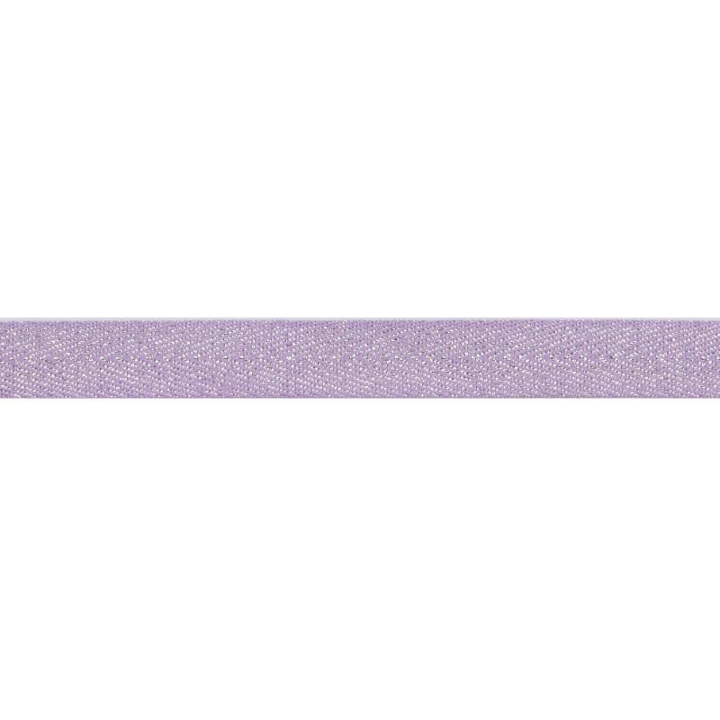 Тесьма 1,5см киперная с люрексом 43-45м/рул, цв: сиреневый/серебряный люрекс