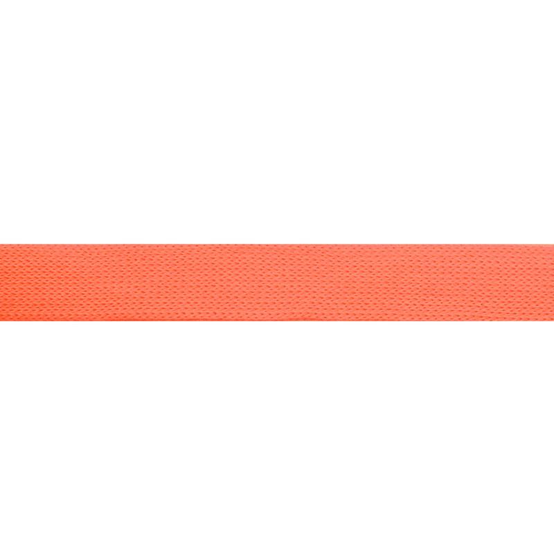 Тесьма трикотажная полиэстер 1см 88-90м/рулон, цв:персиковый неон