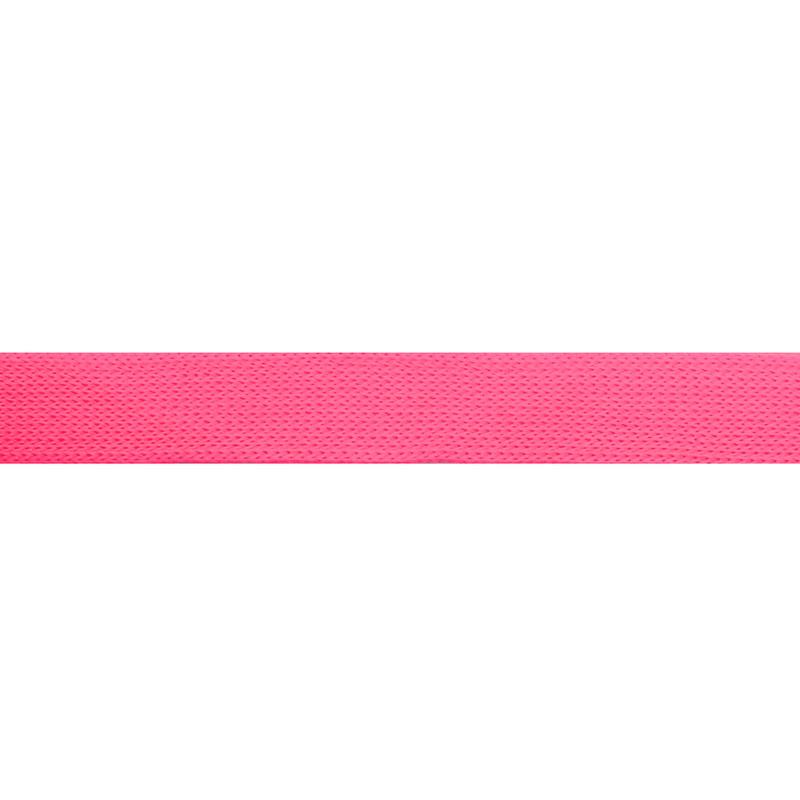 Тесьма трикотажная полиэстер 1см 88-90м/рулон, цв:розовый неон