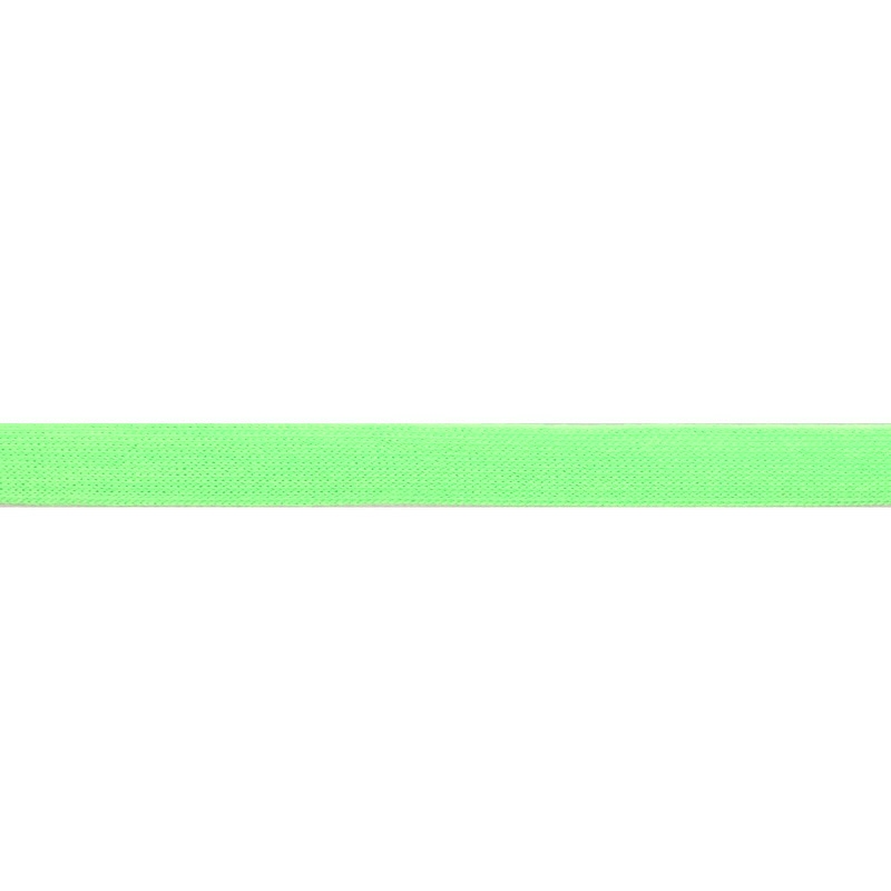 Тесьма трикотажная полиэстер 1см 88-90м/рулон, цв:св.зеленый