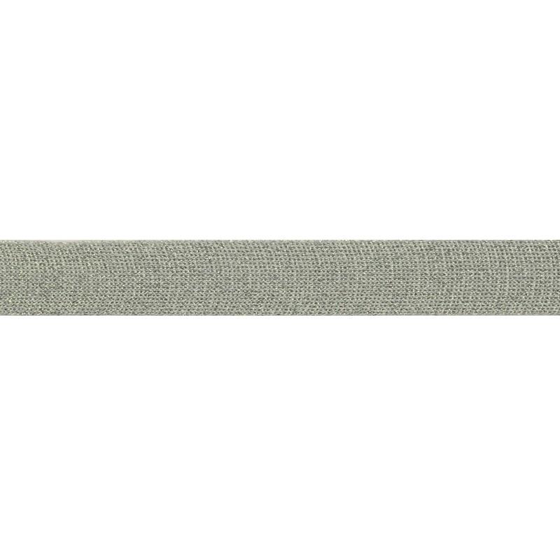 Тесьма люрекс 2см 88-90м/рулон, цв:св.серый/люрекс серебро