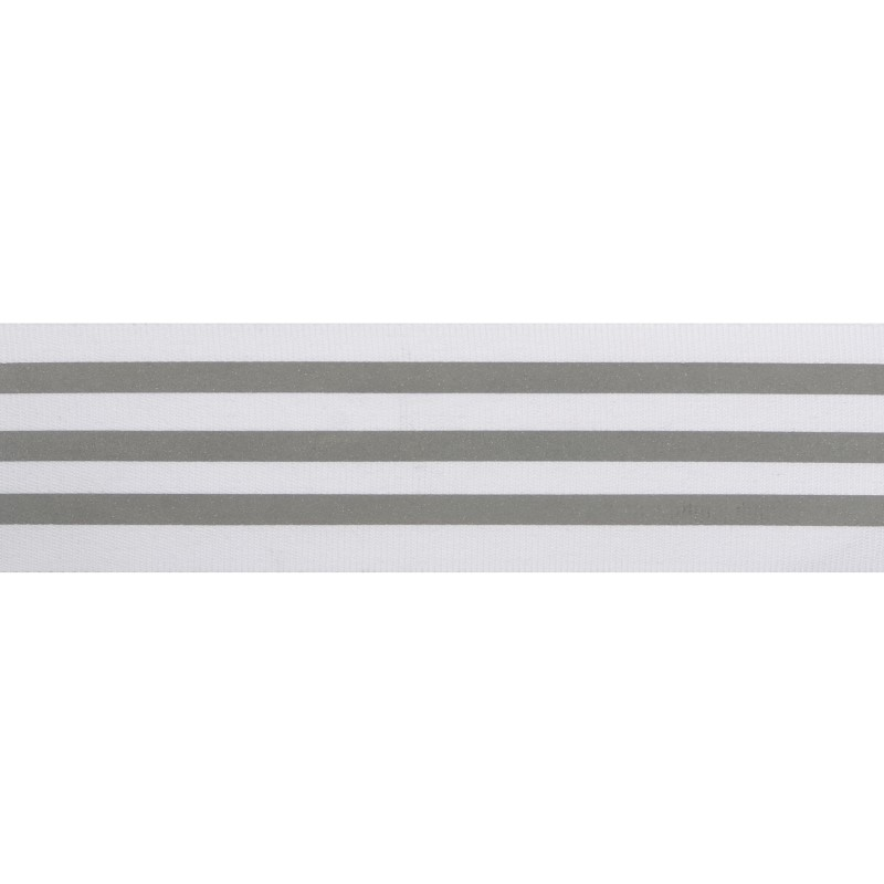 Тесьма светоотражающая репс 4см 43-44м/рулон,цв:белый