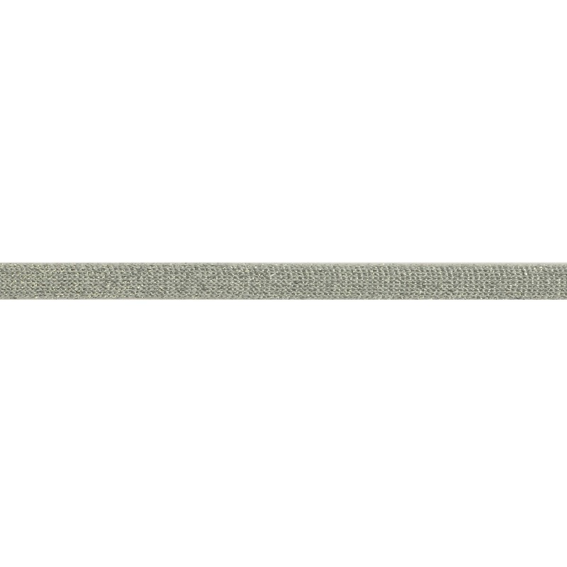 Тесьма люрекс 1см 88-90м/рулон, цв:св.серебро